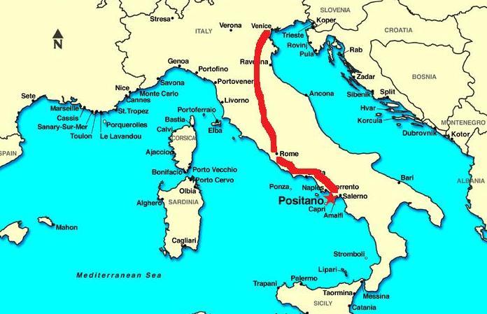 coast to positano